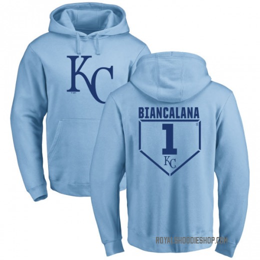 Youth Buddy Biancalana Kansas City Royals Light Blue RBI Pullover Hoodie -